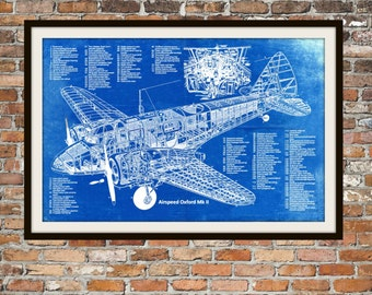 Blueprint art of chicago bridge technical drawings engineering blueprint art of plane airspeed oxford mk ii plane blueprint technical drawings engineering drawings patent malvernweather Choice Image