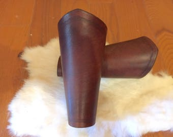 Women's Brown Leather Bracers