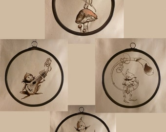 Painting on glass: goblins