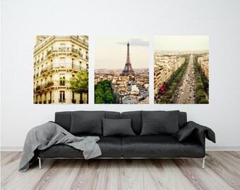 "Set of Paris photographs, Paris photography, Paris gallery wall art - ""Verdant Paris"""