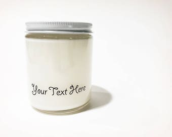 Personalized Candles // Soy candle // Wholesale Candles // Scented Candles // Woodwick // 9 oz