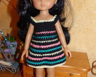 Doll clothes: multicolored dress for babies of corolla