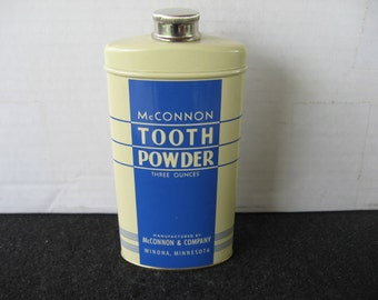 Vintage McConnon Tooth Powder Tin
