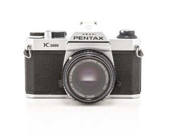 ASAHI Pentax K1000 35mm Film Camera with 50mm Prime Lens - Great Working Student Camera