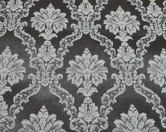 Vintage Brown brocade fabric,silky fabric,brocade fabric, brown fabric,brown brocade fabric,brocade fabric,vintage brown fabric,
