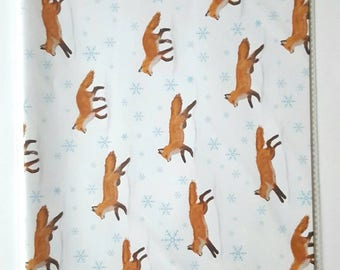 Winter Foxes Wrapping Paper & Gift Tags - A3 Sheets - Ideal for Small Gifts