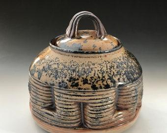 Shino Lidded Jar