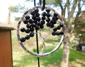Bangle Bracelet Tree of Life Suncatcher, Recycled Materials!