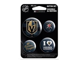 Vegas Golden Knights NHL Button Set