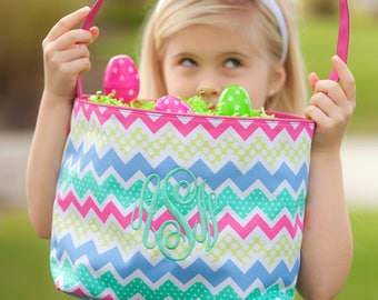 Zaggie Maggie Easter Basket. Monogrammed Easter Basket. Monogram Easter Basket. Easter Basket. Monogram Easter Basket. Navy Stripe Basket