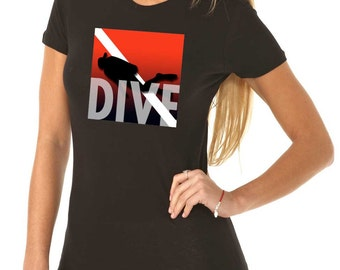 Women's Scuba Diving T-Shirt /Scuba Diving Shirt/Scuba Diver Shirt/Scuba diver/ Scuba Dive Flag shirt /Gift for scuba diver /Life is Balance