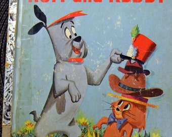 Vintage Children's Book Ruff and Reddy #378 First Edition Little Golden Book