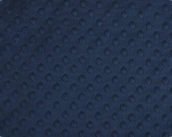 Minky de Shannon tissus marine fossette