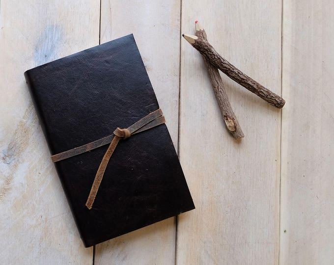 Classic Artist's Leather Watercolor Sketchbook - Cigar Brown