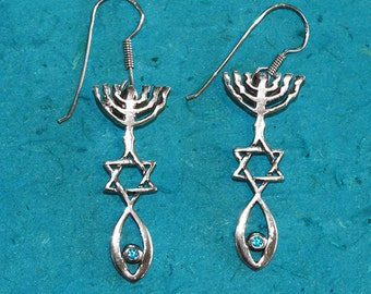 Messianic Seal Jewelry.Messianic Seal Earrings.Messianic From Israel.Jewish Messianic Jewelry.Messianic From Holy Land. FREE SHIPPING!