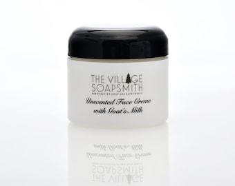 Unscented Face Cream, Sensitive skin face care, gentle face cream