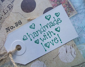 Gift Tags - handmade with love (Set of 18)