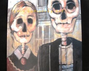 "Day of the Dead ""American Gothic"" - Original Art by Lori Gutierrez!!"