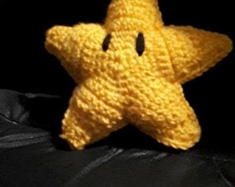 Mario star plushie