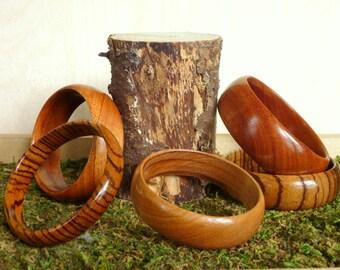 Custom Wooden Bangle Bracelet