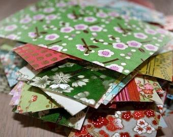 Sumo scrap paper pack - Chiyogami or yuzen paper - assorted