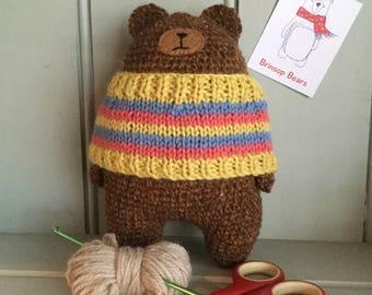 Handmade Crochet Bear with Jumper