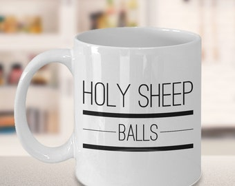 Knitting Mug - Gift For Knitter - Holy Sheep Balls Mug