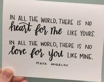 Maya Angelou Card