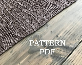 Summer Shawl or Wrap - Easy Knitting PDF PATTERN - Une Echarpe Trouee - PDF pattern