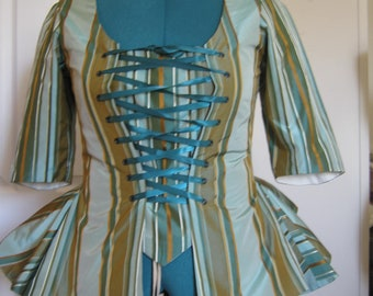 Striped Silk Taffeta Caraco size 16