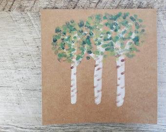Birch Tree Card