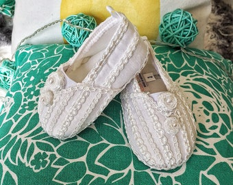 Slippers/ Baby Boy Christening Shoes