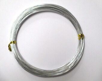 10 meters wire aluminum silver 1 mm reel