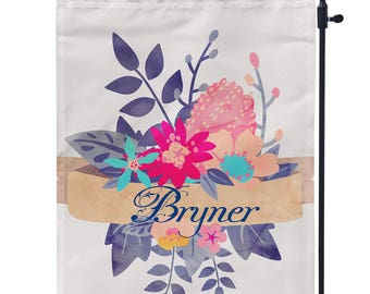 Floral Custom Garden Flag