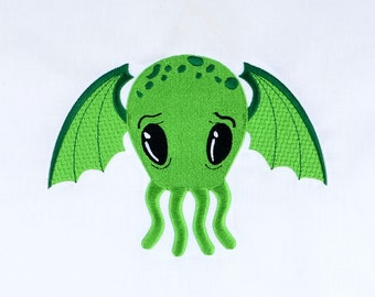 Cutie Cthulhu 5x7 machine embroidery design