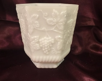 Fire King vintage milk glass vase