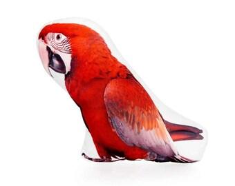 Macaw, Macaw Bird, Pillow, Cushion, Bird Pillow, Bird, Bird lover Gift, Bird Present, Bird Nursery, Boys Bedroom, Baby Gift, First Birthday