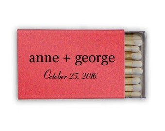 Custom Matches with Names - set of 150 for 1.20 each