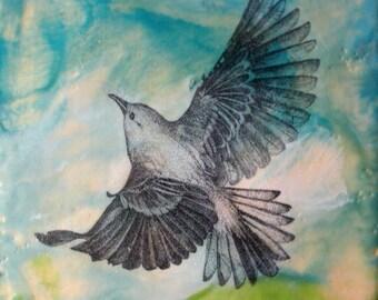 Soaring Bird - Original Encaustic Painting