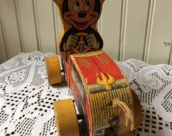 Vintage toy puddle jumper Mickey Mouse