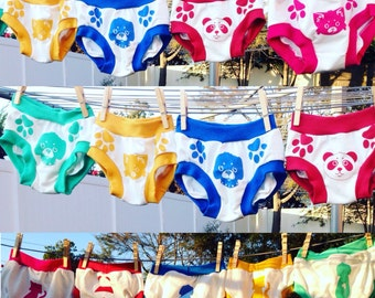 Potty training underwear your kids will love!! Paws show where to hold, animal show front and back. Free shipping within the USA