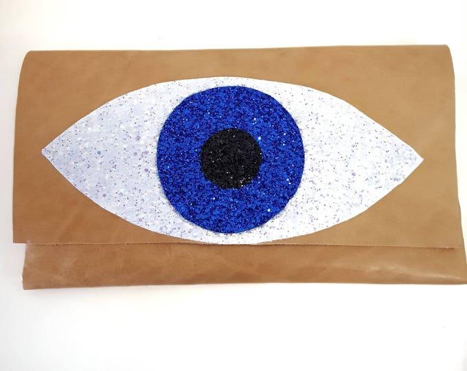DHL FREE Purse bag/messanger bag/evil eye purse/evil eye bag/Greek evil eye bag/cocktail bag/leather bag/genuine leather /handmade/boho bag