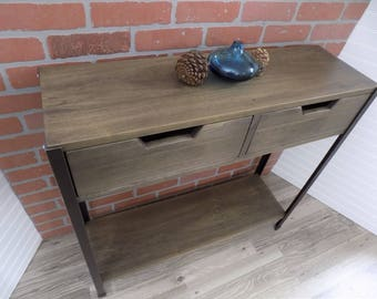 Console Table with Drawers, Skinny, Narrow / Entry / Sofa / Industrial / Rustic /