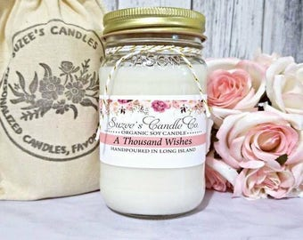 A Thousand Wishes Soy Candle - Handmade Soy Candle - Scented Candle - Soy Candle Gift  - Birthday Gift for her - Scented Soy Candle