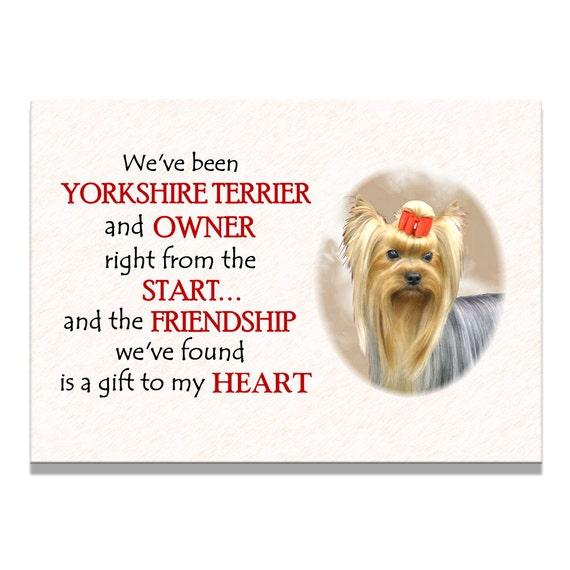 Yorkshire Terrier Friendship Fridge Magnet