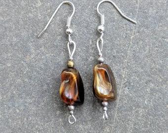 HANDMADE earrings silver plated hooks