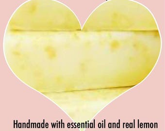 Hands lemon zest soap. 1 bar. Free shipping.