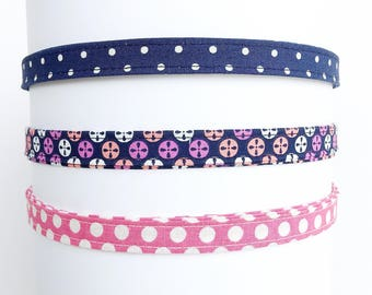 Headband for women   Navy and Pink