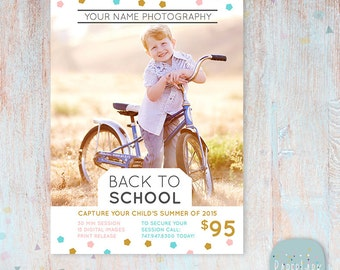 Back to School Photography Marketing Board - Mini Sessions - IU002 - INSTANT Download