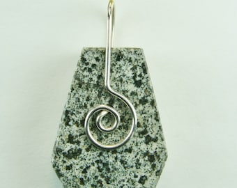 AZOZEO™ Guardianite™ wire SPIRAL wrapped Pendant #411